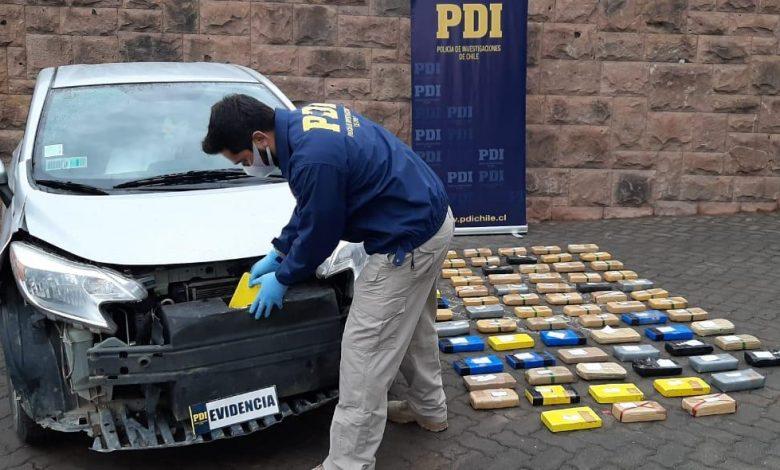 Photo of PDI Los Andes detecta millonario cargamento de cocaína oculto en automóvil